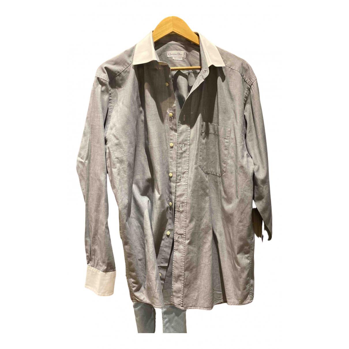 Dior N Grey Cotton Shirts for Men 41 EU (tour de cou / collar)