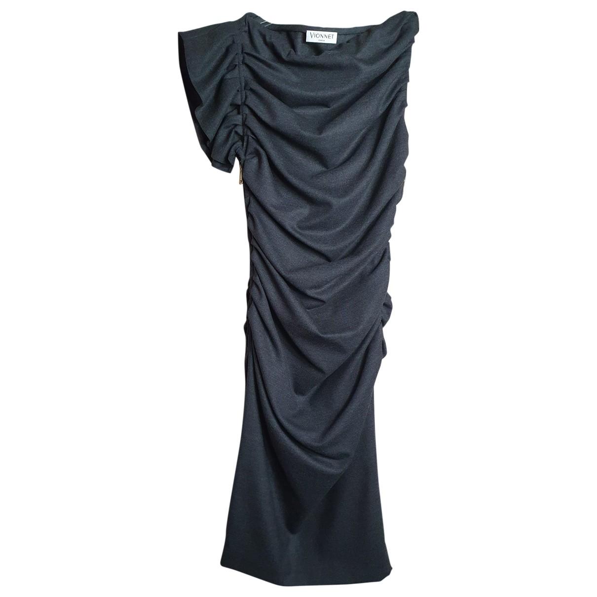 Vionnet \N Kleid in  Anthrazit Wolle