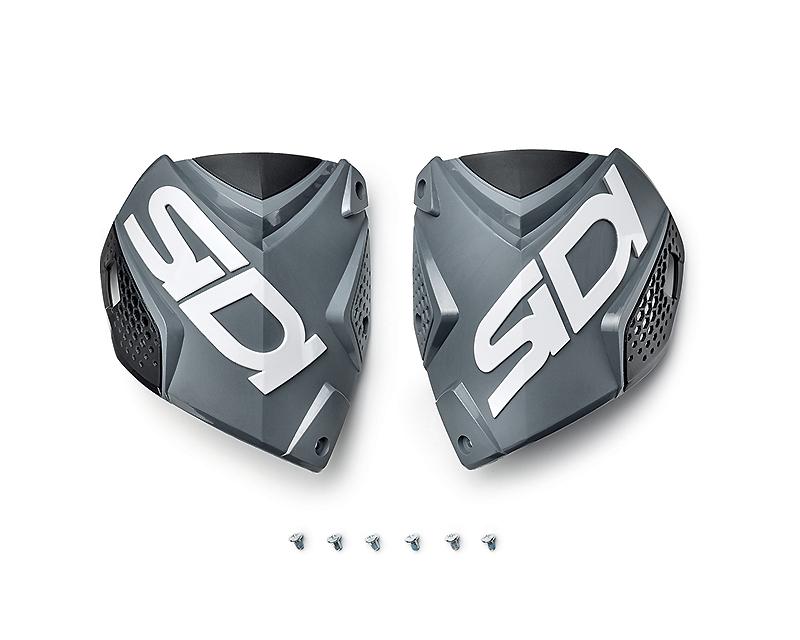Sidi SID-ZC2-SP-GYBK Boots Spare Parts Crossfire 2 Shin Plates (Gray/Black/White)