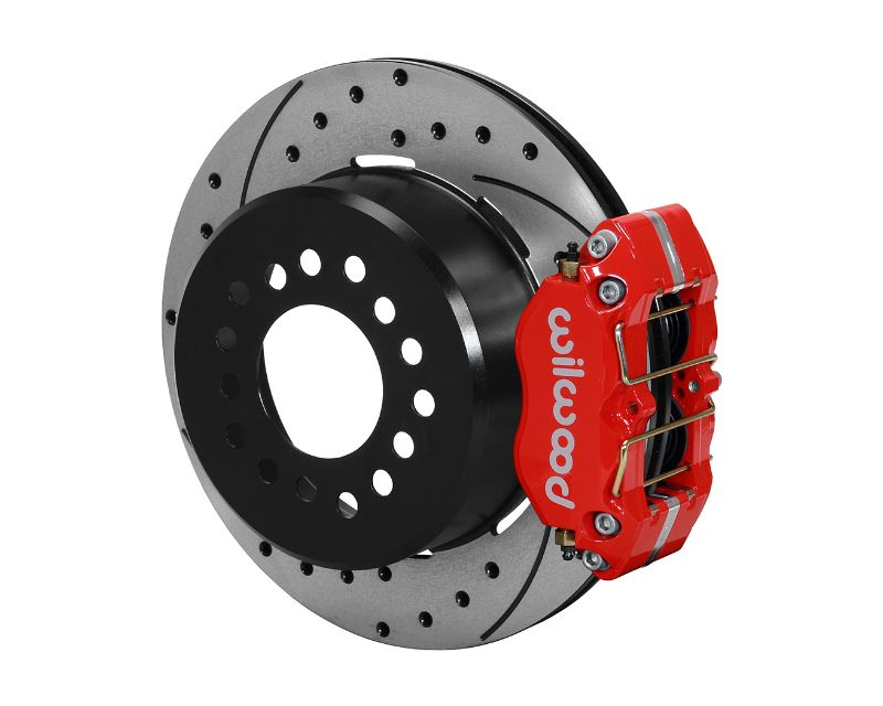 Wilwood 140-13205-DR DP-DB P/S Park Brake Kit Drilled Red Small Ford  2.66 Inch Offset 12.19 Inch Rotor Red