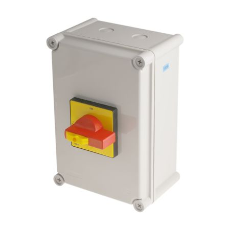 RS PRO 3 Pole Panel Mount Non Fused Isolator Switch - 100 A Maximum Current, 55 kW Power Rating, IP65