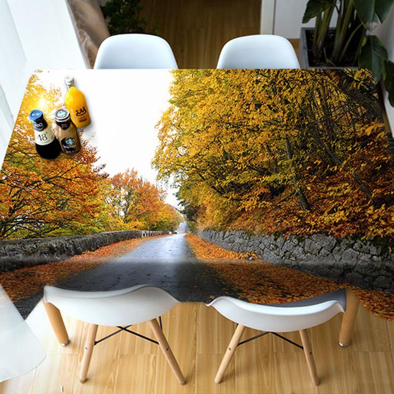 Birthday Decoration Realistic Design Vibrant Color 3D Tablecloth