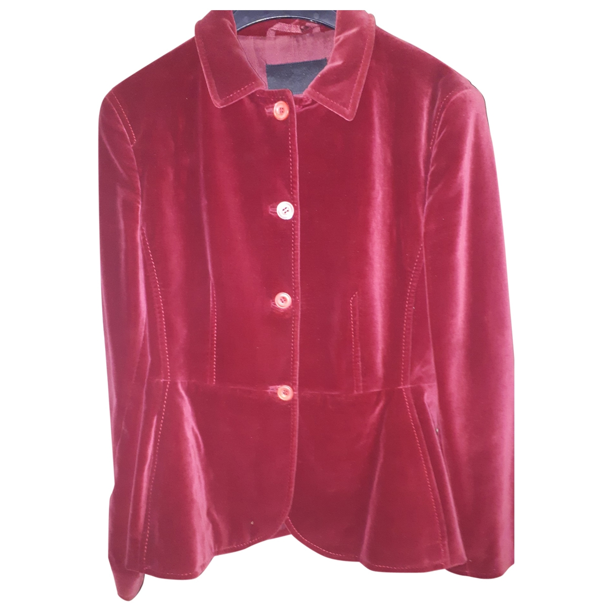 Prada \N Burgundy Velvet jacket for Women 44 IT