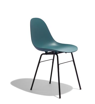 TA Collection TO-1533OB-1502B Armchair/Er Base Black Powder Coated/Ocean Blue