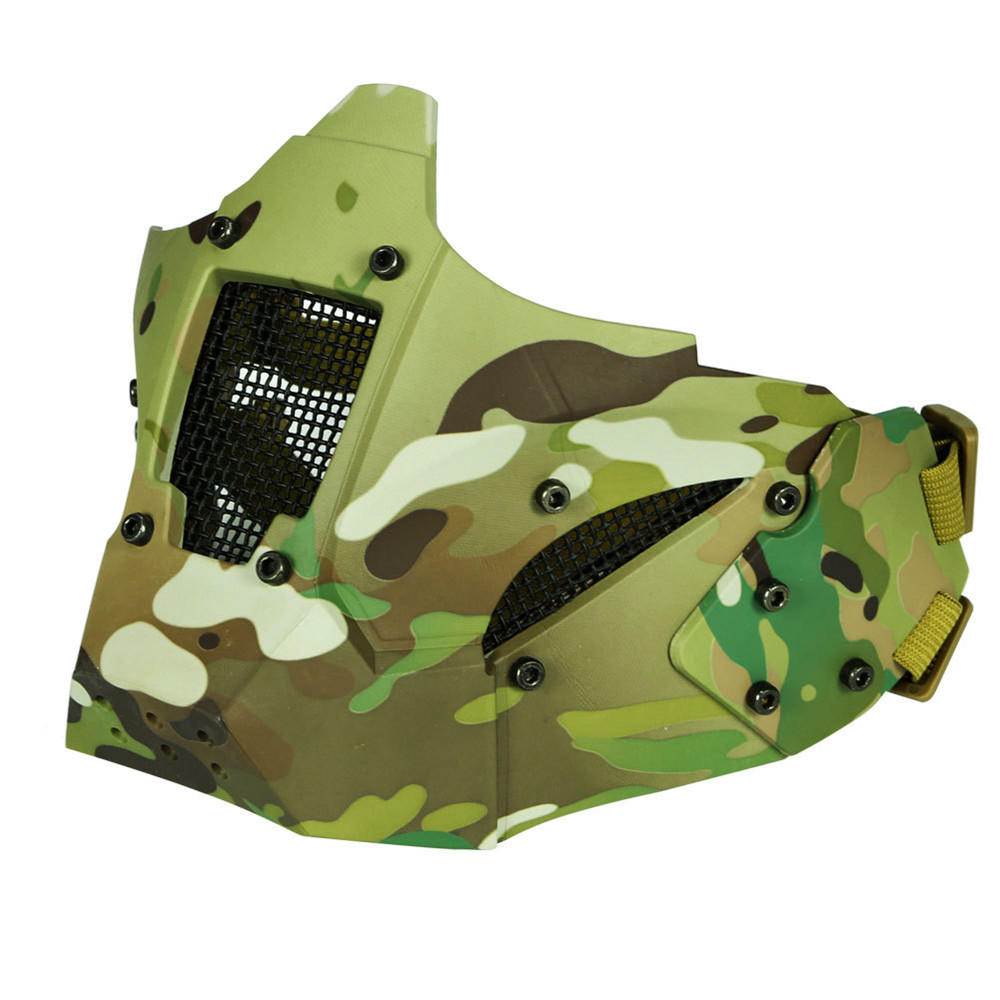 WoSporT PDW Mesh Tactical Half Face Mask Iron Warrior Anti-shock Breathable Hunting