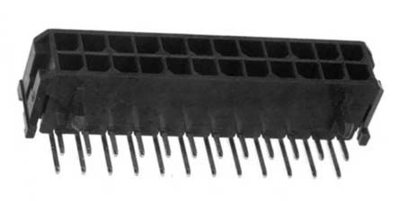 Molex , Micro-Fit 3.0, 43045, 24 Way, 2 Row, Right Angle PCB Header (5)