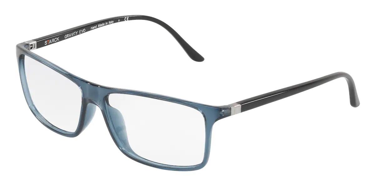 Starck SH1240X 0025 Men's Glasses Blue Size 59 - Free Lenses - HSA/FSA Insurance - Blue Light Block Available