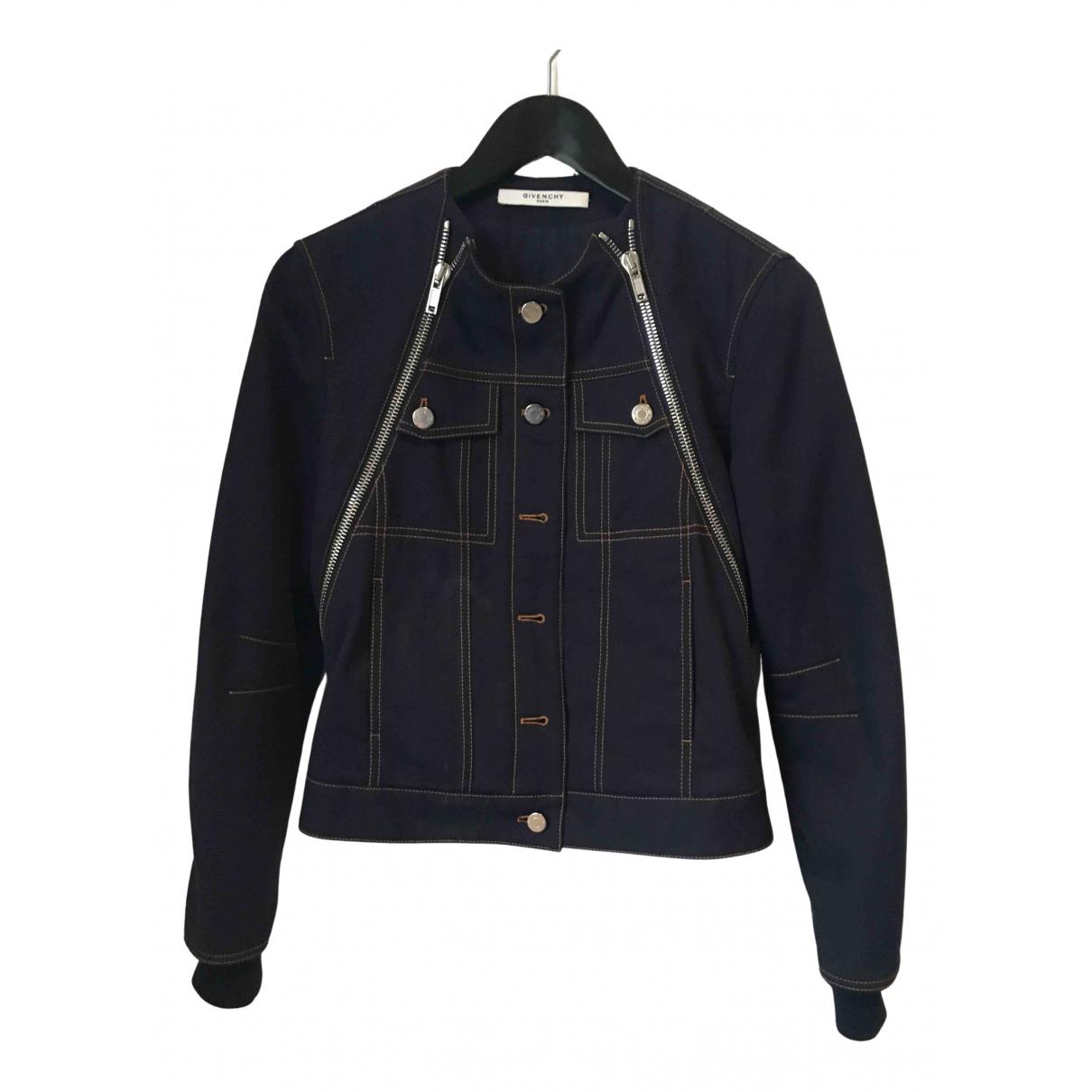 Givenchy \N Lederjacke in  Blau Baumwolle