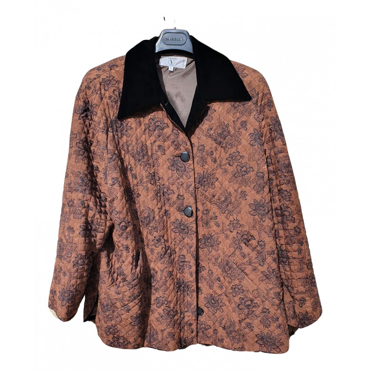 Valentino Garavani N Brown Silk jacket for Women 42 IT