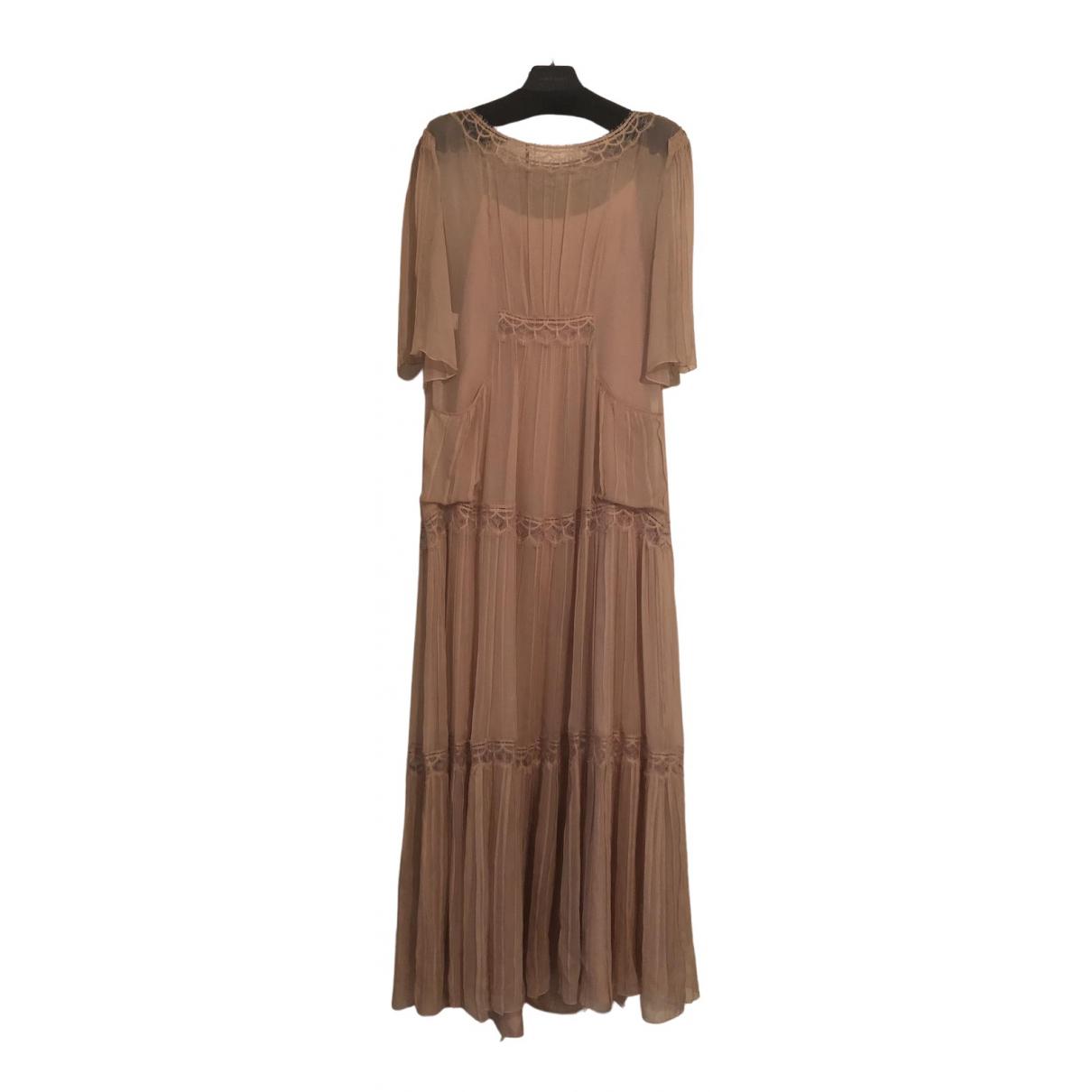 Alberta Ferretti \N Kleid in  Rosa Seide