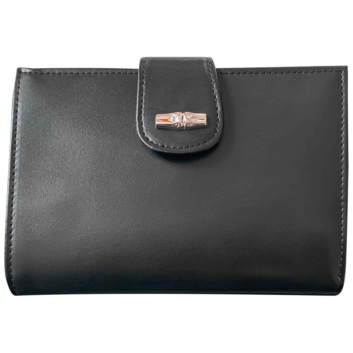 Longchamp - Portefeuille   pour femme en cuir - noir