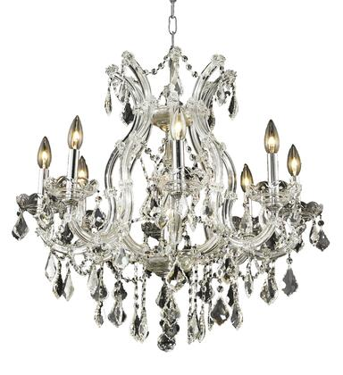 2800D26C/RC 2800 Maria Theresa Collection Hanging Fixture D26in H26in Lt: 8+1 Chrome Finish (Royal Cut
