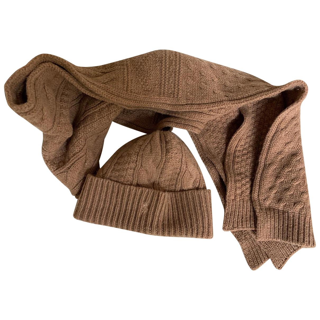 Polo Ralph Lauren - Chapeau   pour femme en laine - camel
