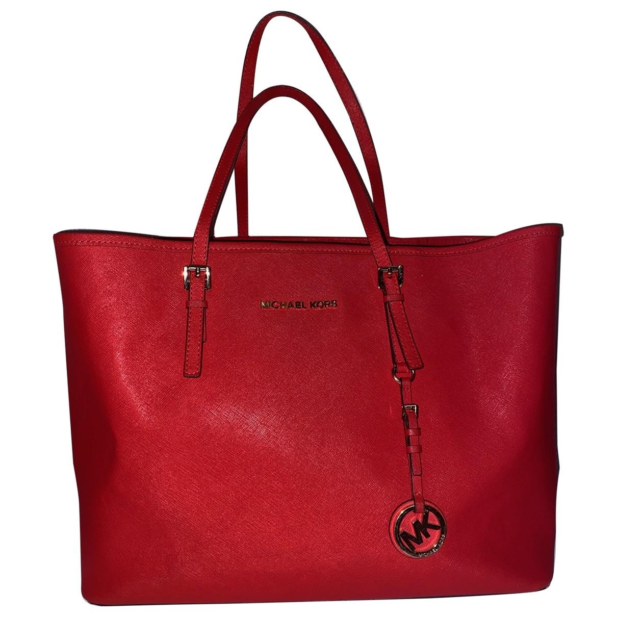 Michael Kors Jet Set Red Leather handbag for Women \N