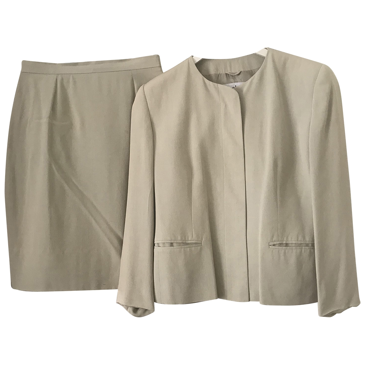 Non Signé / Unsigned \N Beige Silk skirt for Women 42 IT
