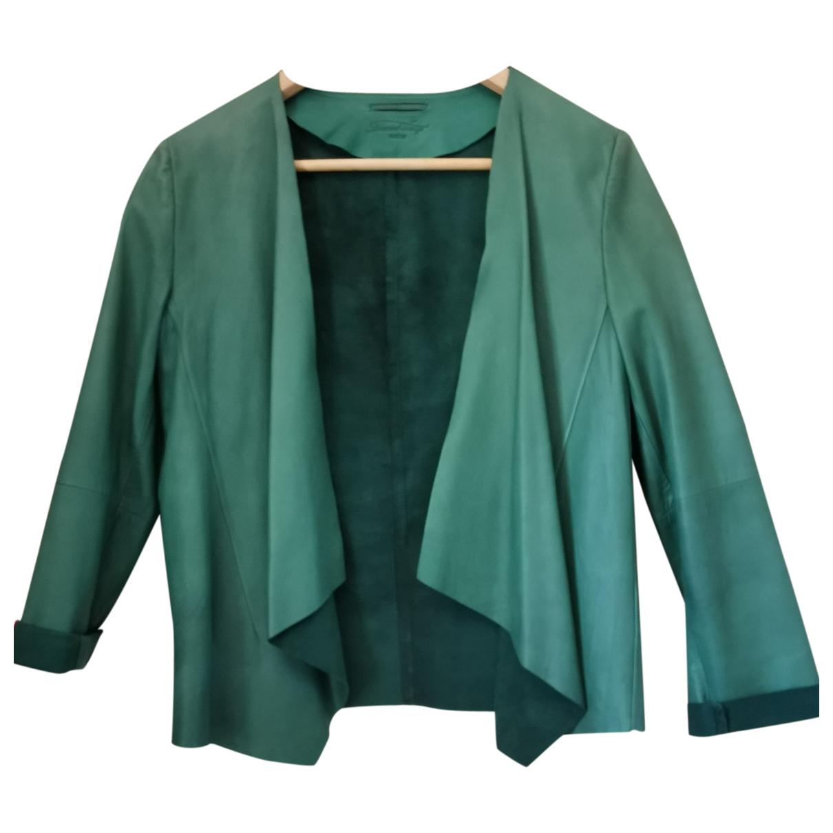 American Vintage - Veste   pour femme en cuir - vert