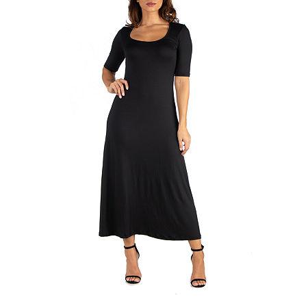 24/7 Comfort Maxi Dress-Maternity, Medium , Black