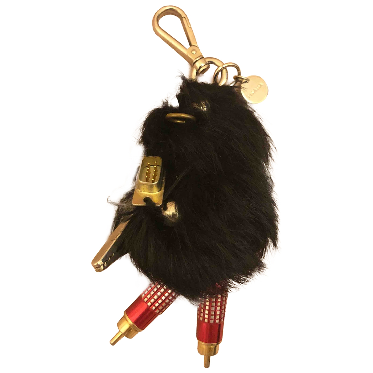 Prada - Bijoux de sac   pour femme en renard - noir