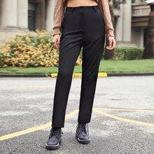 Hose mit hoher Taille und seitlichen Taschen