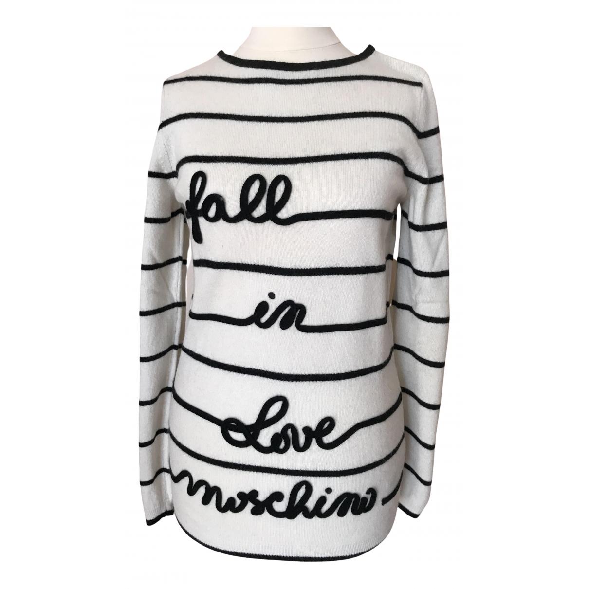 Moschino Love - Pull   pour femme en laine - ecru