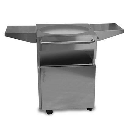 SOLO Stainless Steel Cart with Double Doors and Integral Bottle
