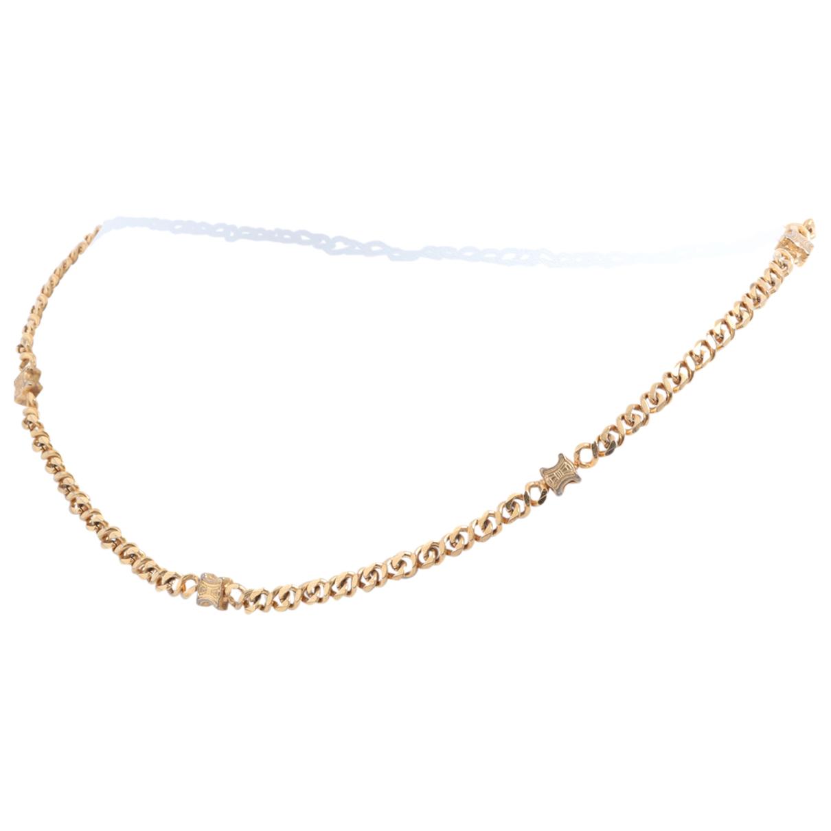 Celine - Collier   pour femme en plaque or - dore