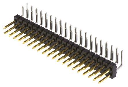 Molex , C-Grid III, 90122, 40 Way, 2 Row, Right Angle Pin Header (5)