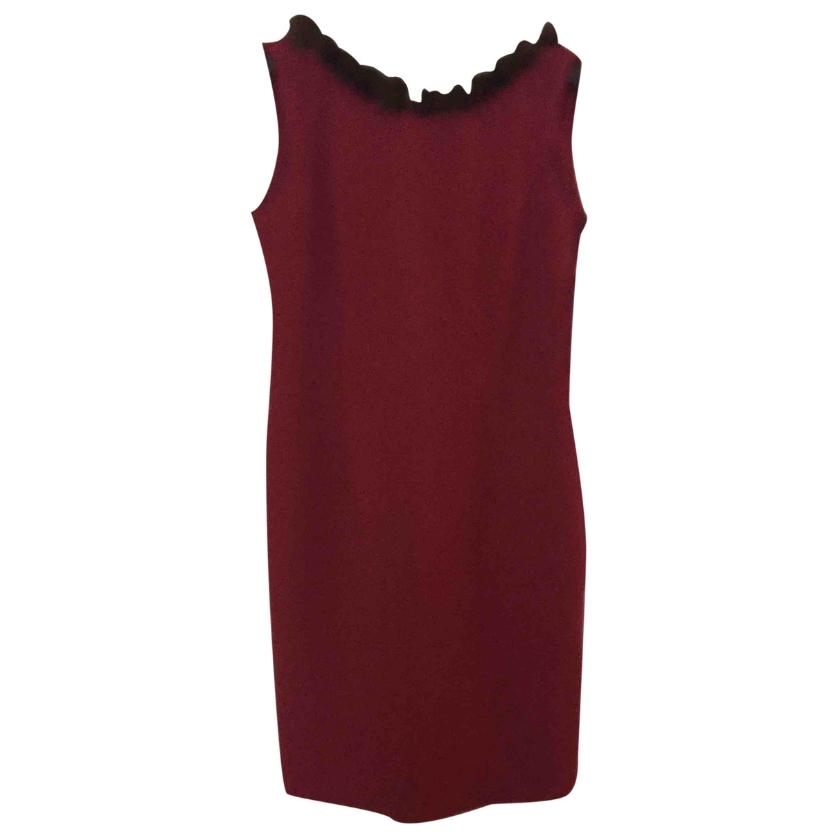 Non Signé / Unsigned \N Burgundy Mink dress for Women 46 IT