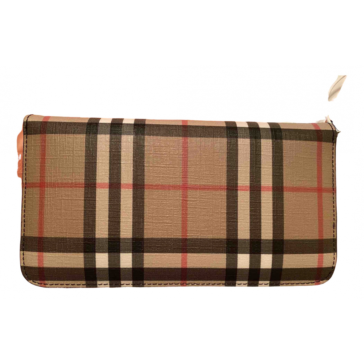 Burberry \N Beige Leather wallet for Women \N