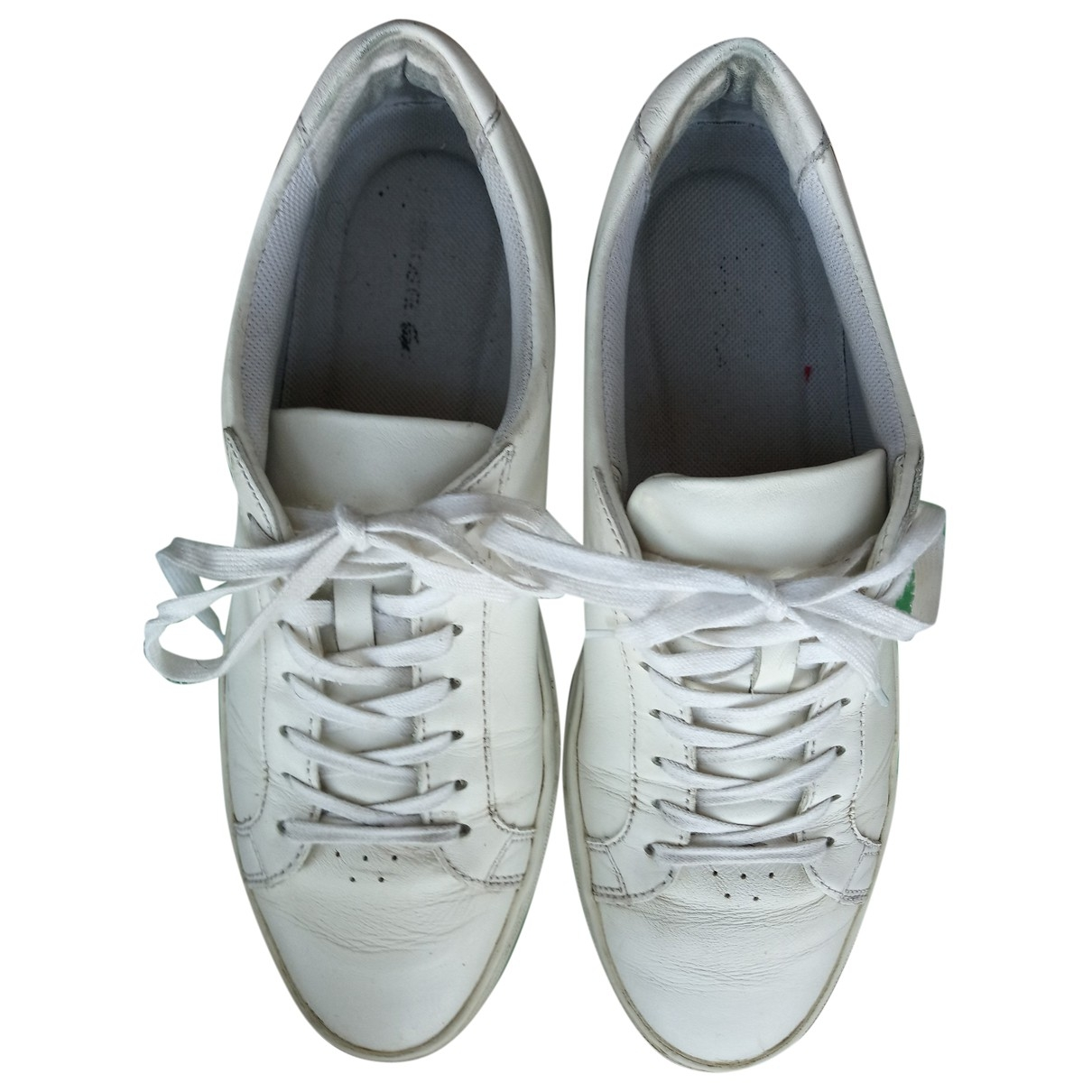 Lacoste \N White Leather Trainers for Men 42 EU