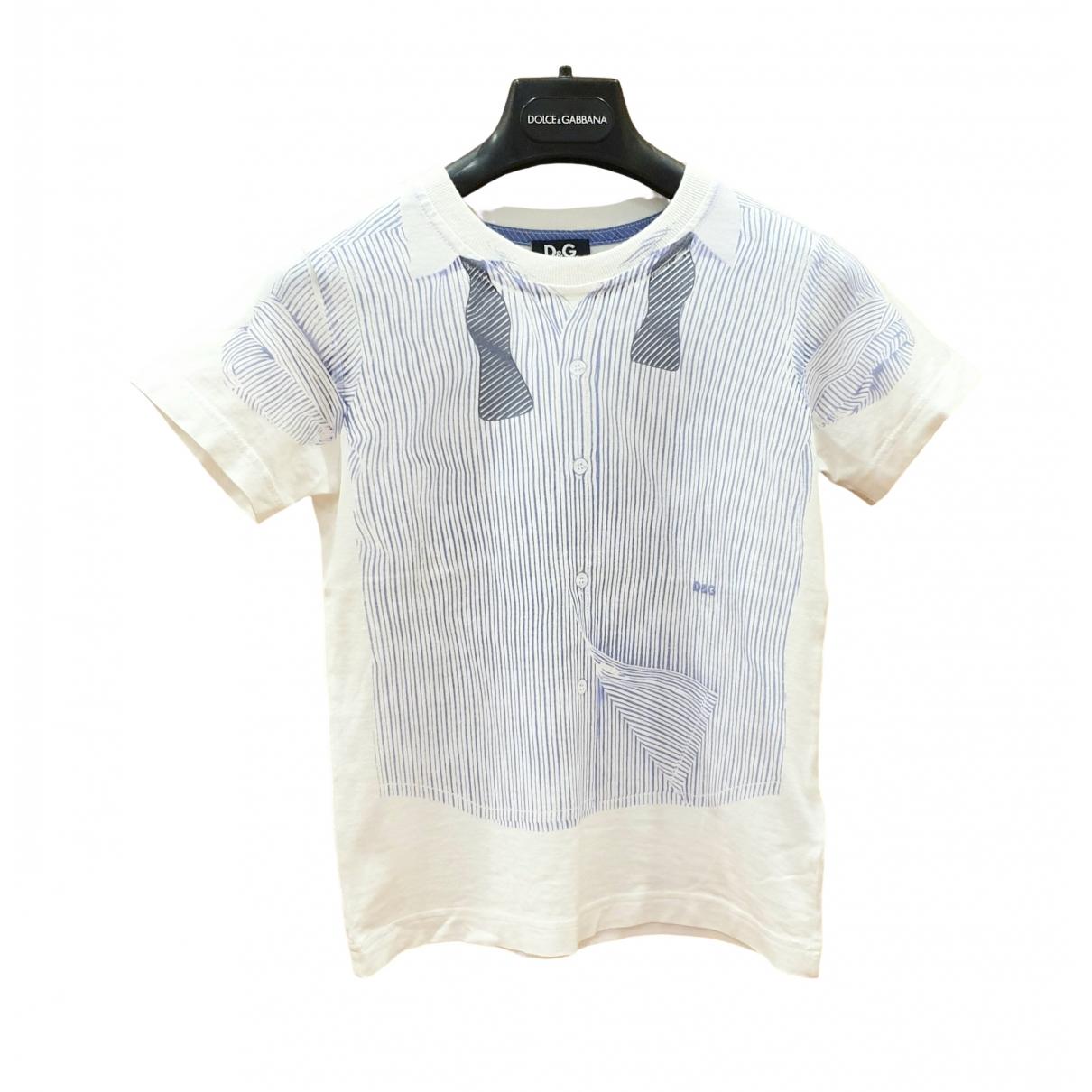 D&g - Top   pour enfant en coton - blanc