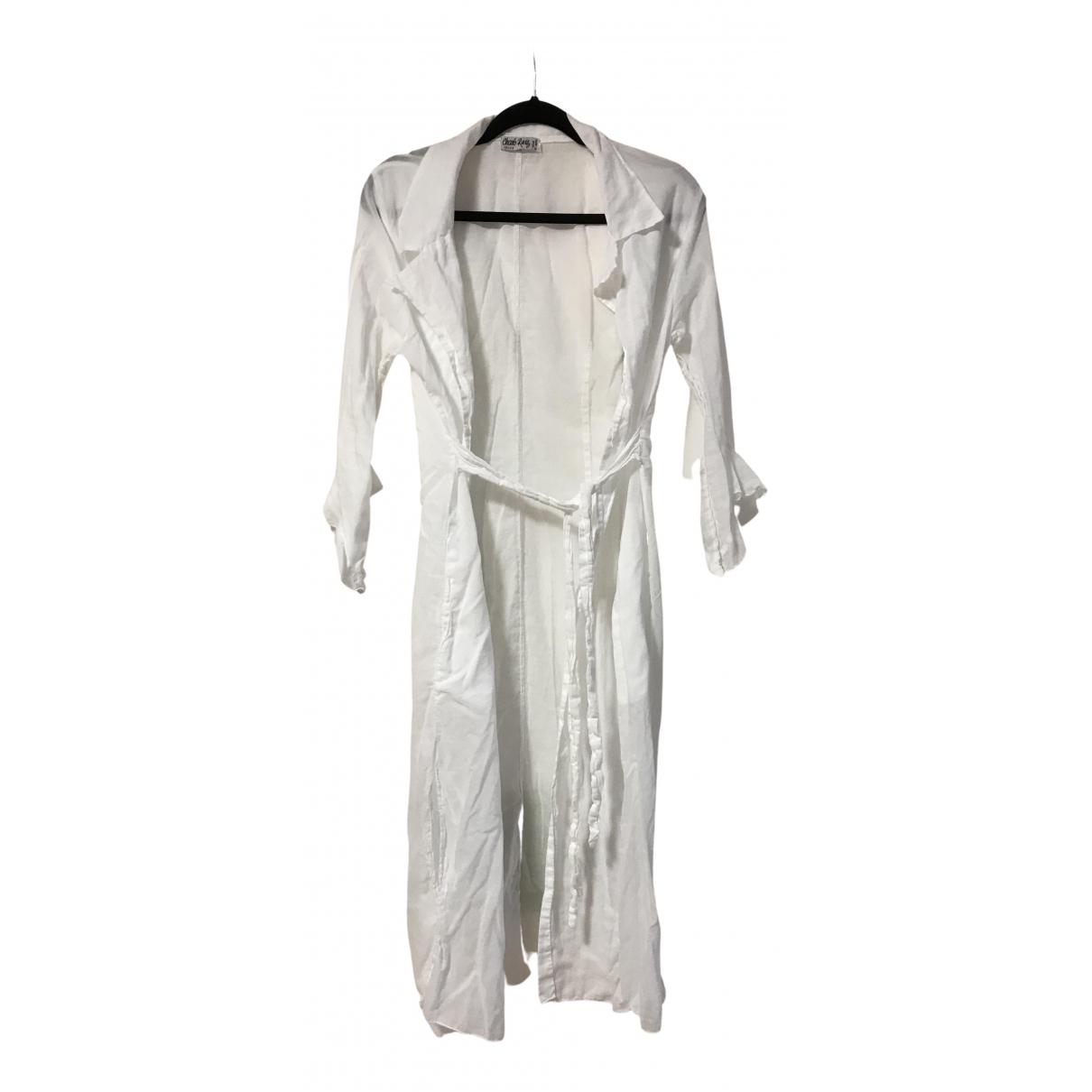 Charo Ruiz \N Kleid in  Weiss Baumwolle