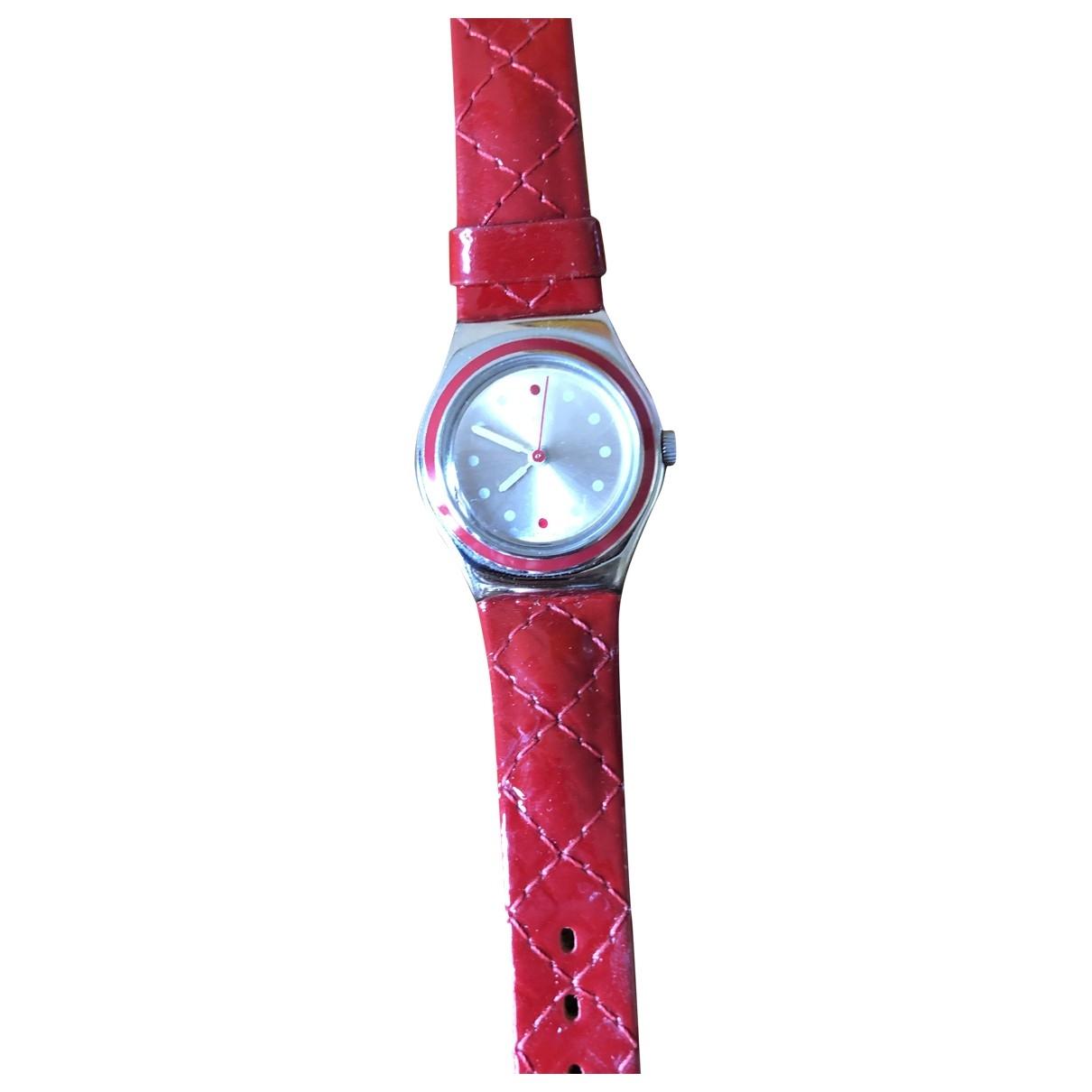 Swatch - Montre   pour femme en acier - rouge