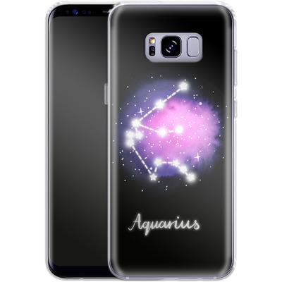 Samsung Galaxy S8 Plus Silikon Handyhuelle - AQUARIUS von Becky Starsmore