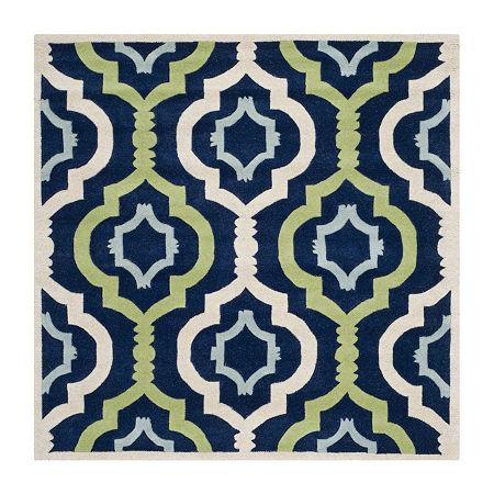 Safavieh Joetta Geometric Hand Tufted Wool Rug, One Size , Blue