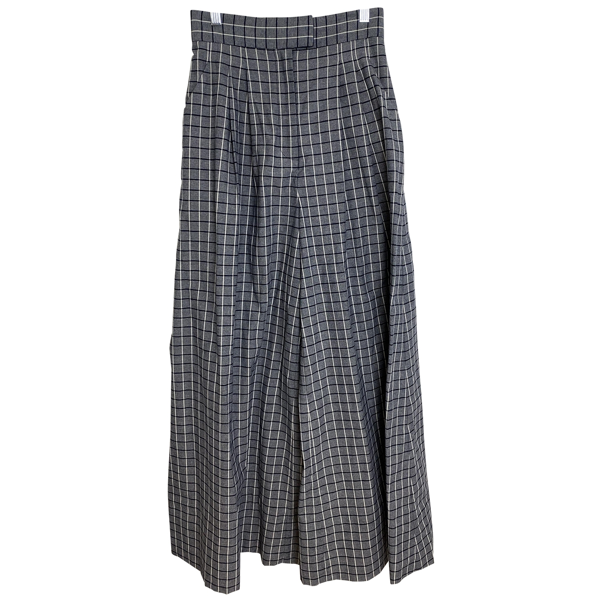 Acler \N Blue Cotton Trousers for Women 6 UK