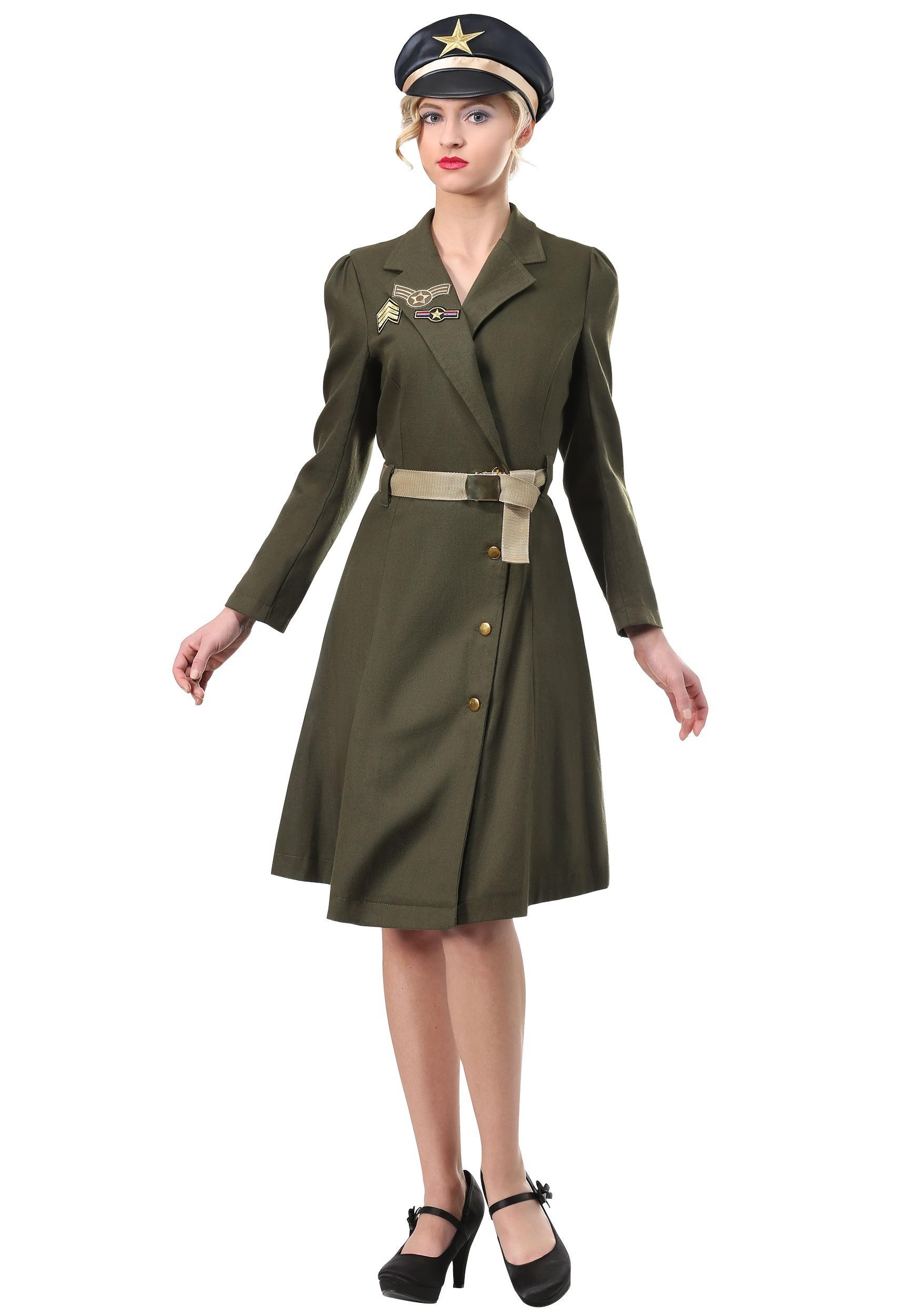 Plus Size Bombshell Military Captain Costume for Women