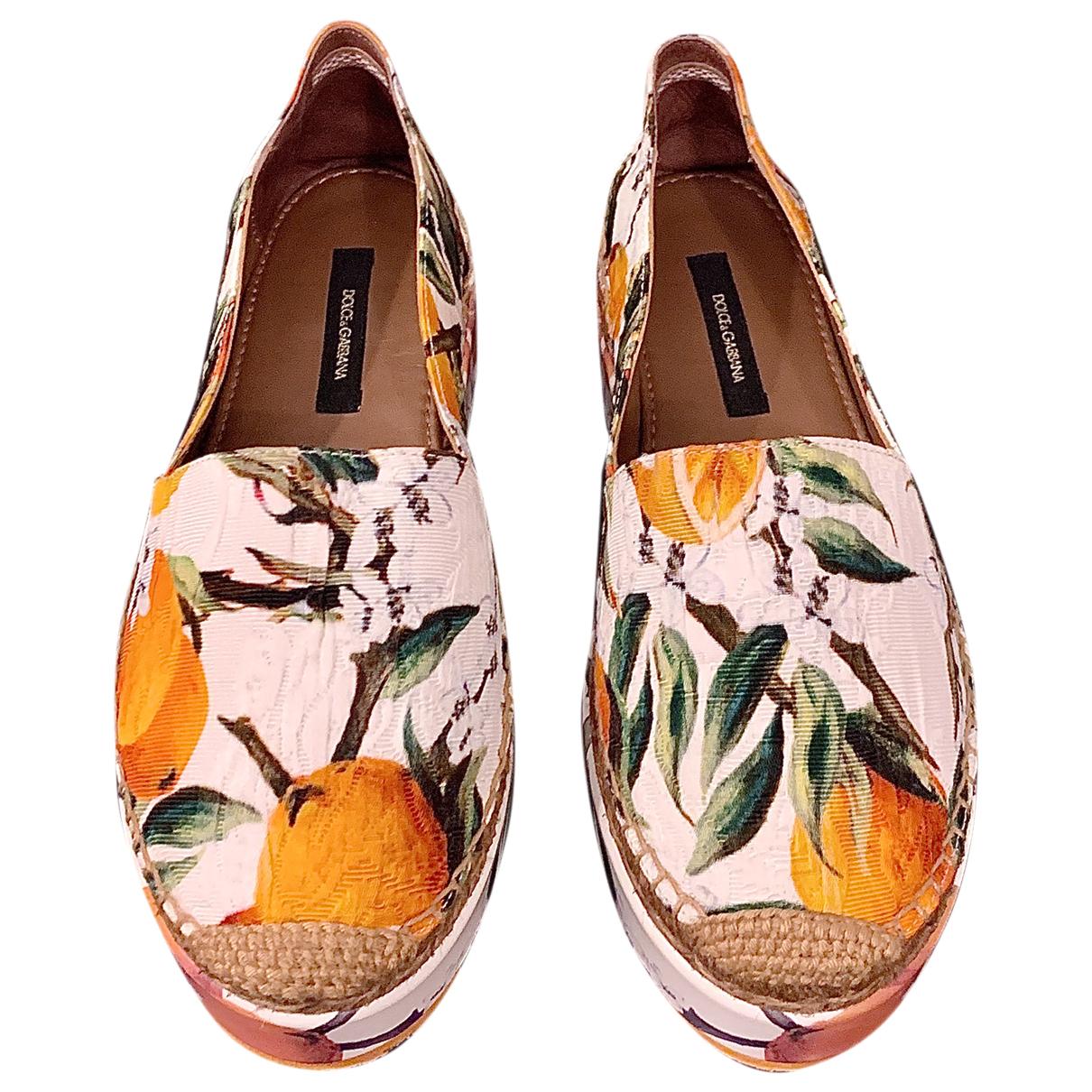 Dolce & Gabbana - Espadrilles   pour femme en toile - orange