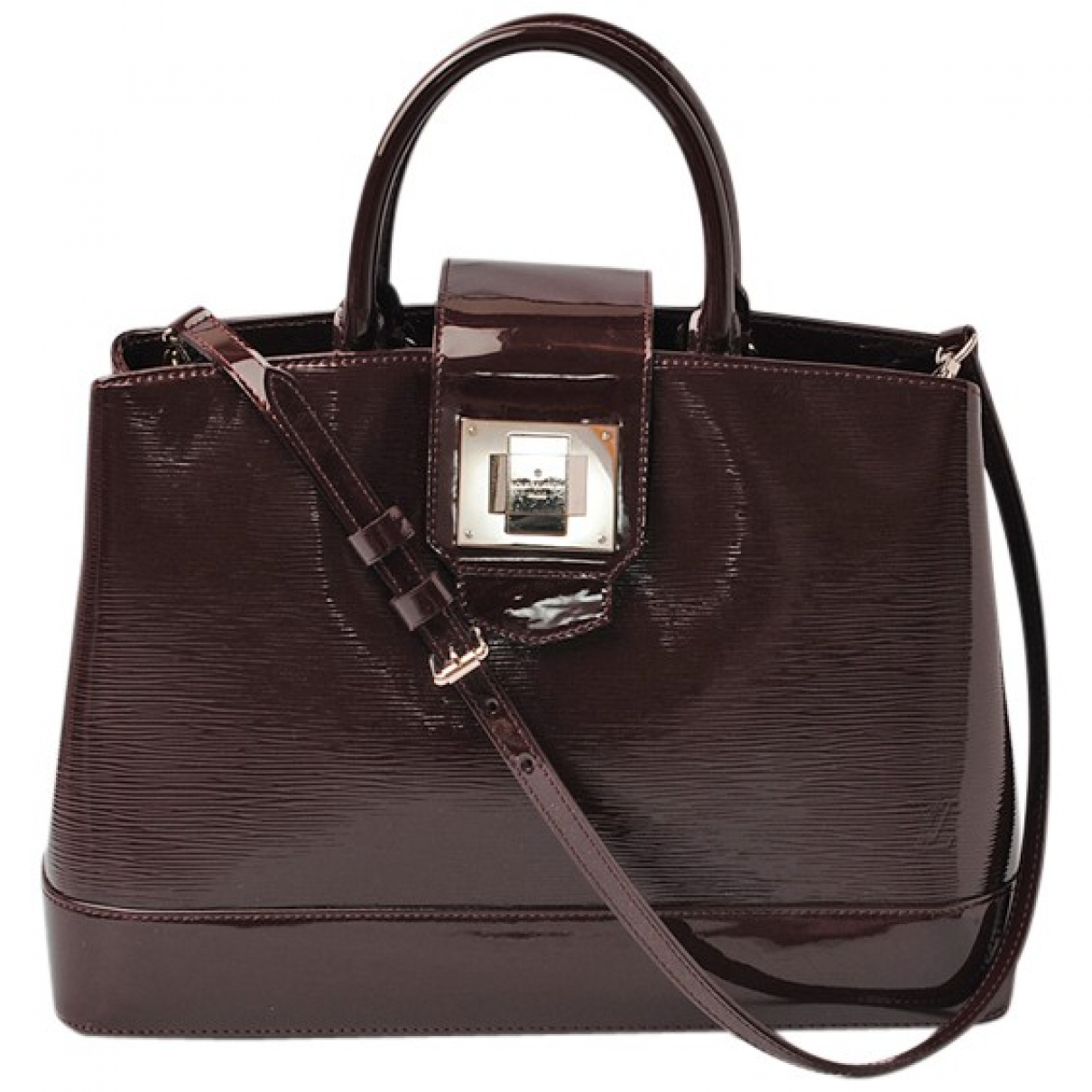Louis Vuitton - Sac a main   pour femme en cuir verni - marron