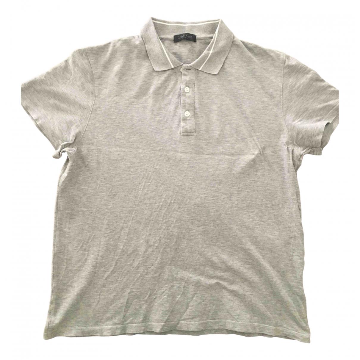Calvin Klein Collection - Polos   pour homme en coton - gris