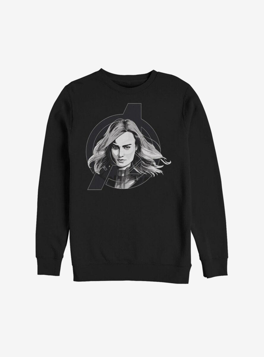 Marvel Captain Marvel Grayscale Sweatshirt