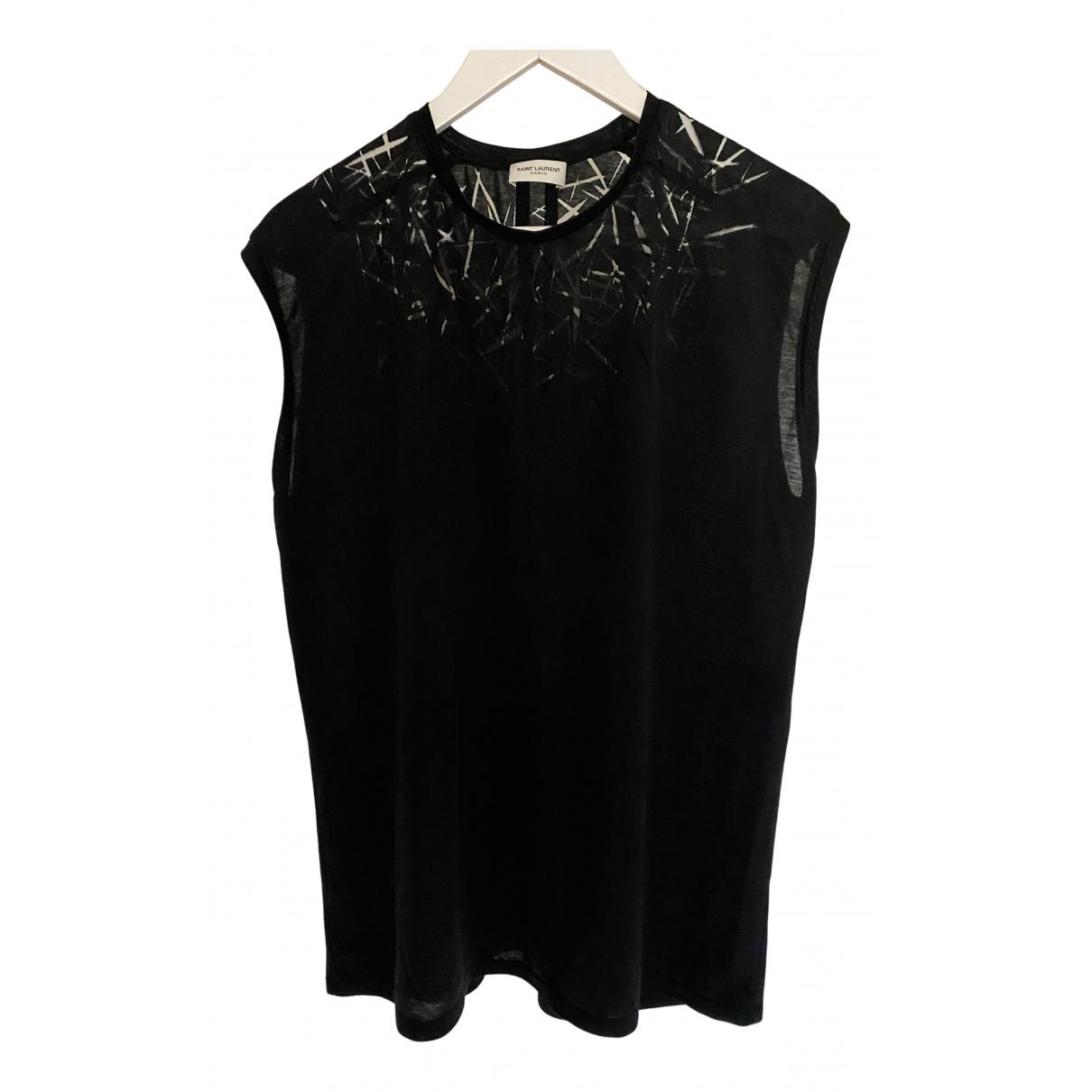 Saint Laurent \N T-Shirts in  Schwarz Baumwolle