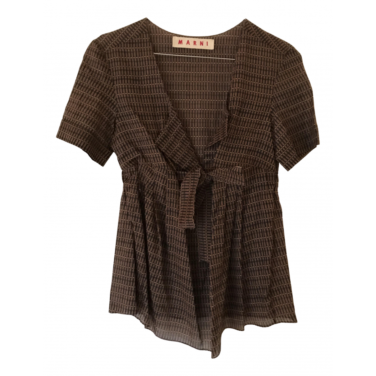 Marni N Brown Cotton  top for Women 38 IT