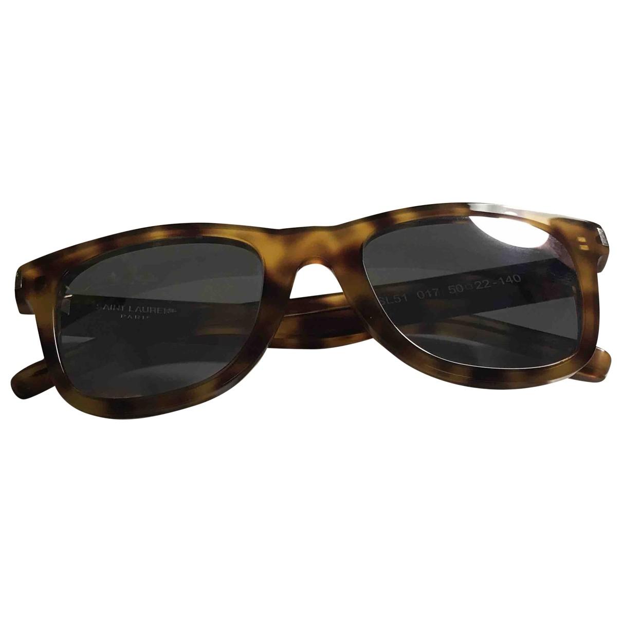 Saint Laurent \N Brown Sunglasses for Men \N