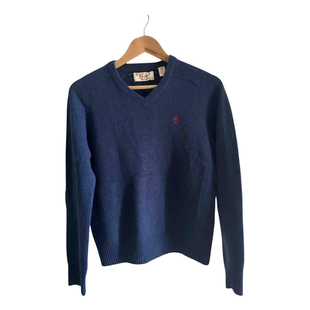 Original Penguin \N Pullover in  Blau Wolle