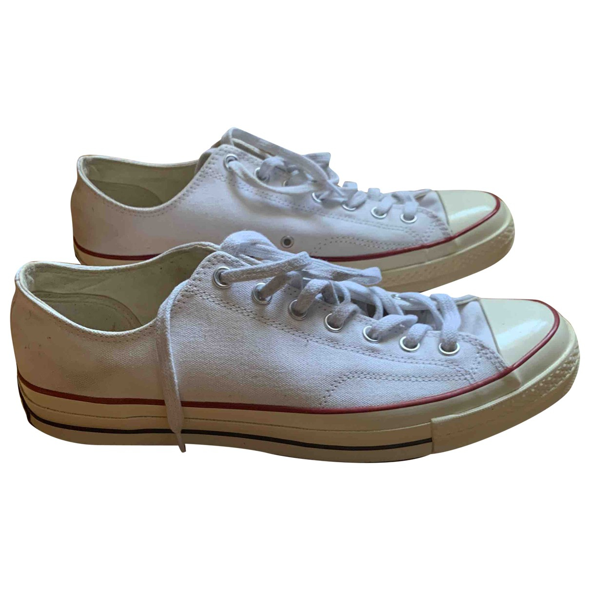 Converse \N White Cloth Trainers for Men 12 UK