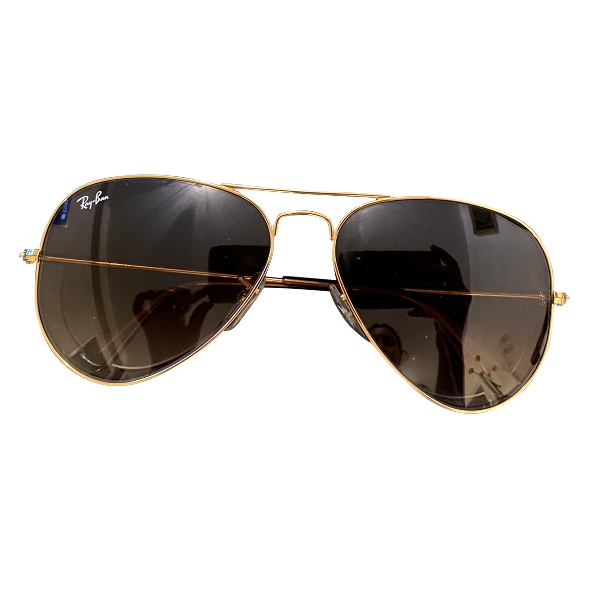 Ray-ban - Lunettes Aviator pour femme - dore