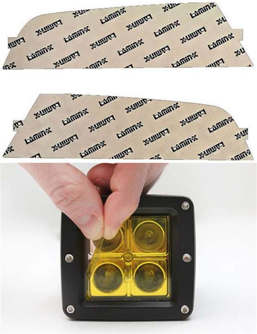 Ford Focus ST 15-18 Yellow Fog Light Covers Lamin-X F149Y