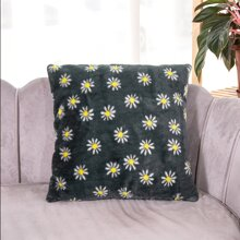 Daisy Pattern Cushion Cover Without Filler