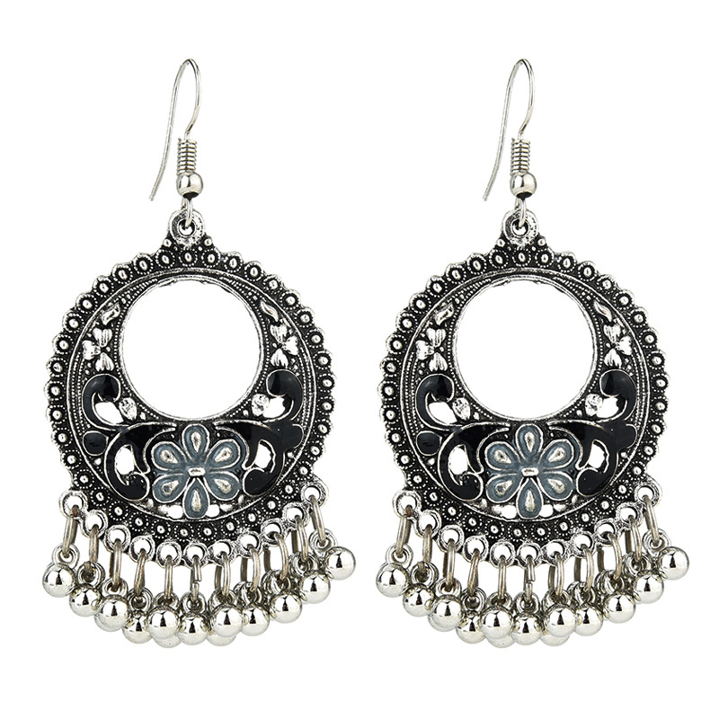 E-Plating Technic Alloy Female Geometric Retro Style Drop Earrings